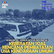 Keberatan Soal Rencana Pembatasan Usia Kendaraan Umum